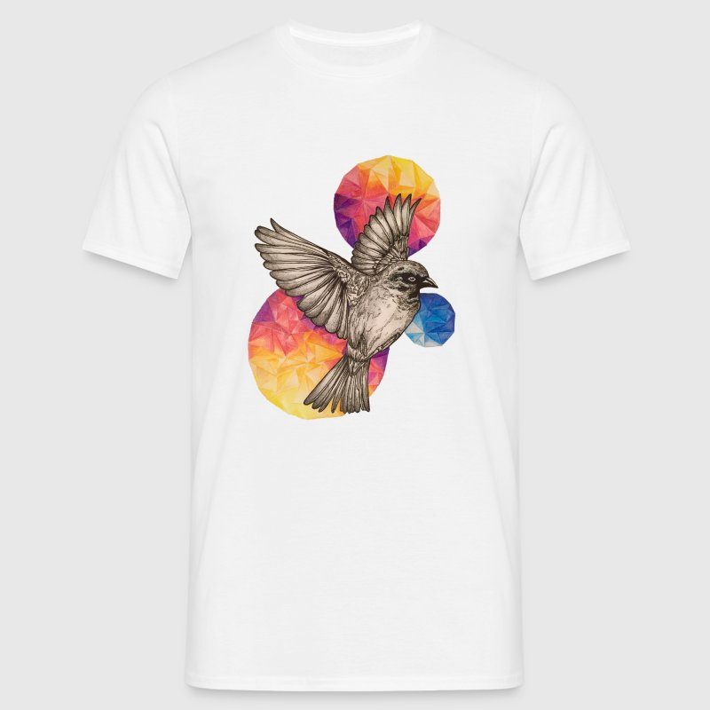 Wit Fire Bird T-shirts - Mannen T-shirt