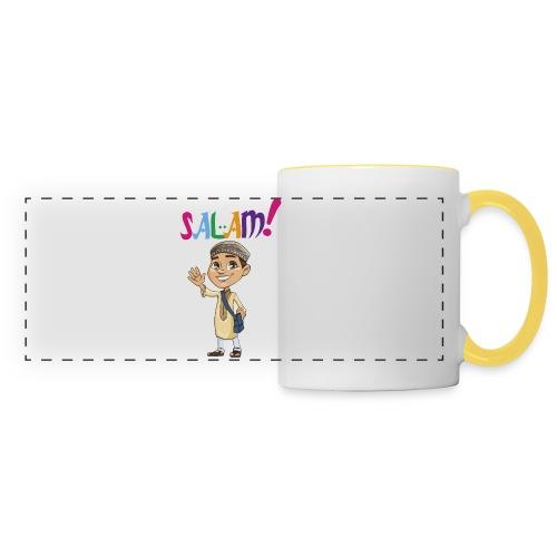 SALAM N°1 pour garçon manche courte - Mug panoramique contrasté et blanc