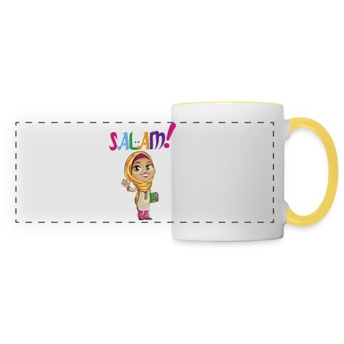 SALAM N°1 Féminin manche courte - Mug panoramique contrasté et blanc