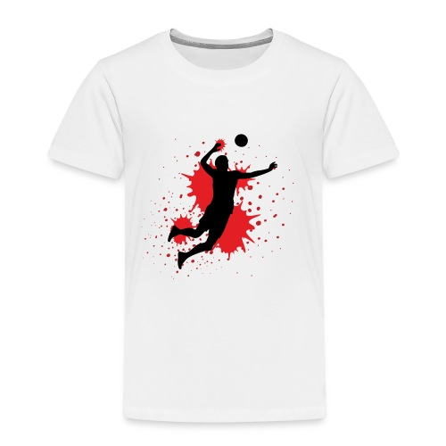 Handball Farbklecks - Kinder Premium T-Shirt