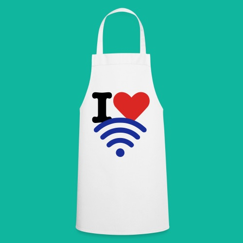 I (Heart) (Wi-Fi) Tee - Cooking Apron