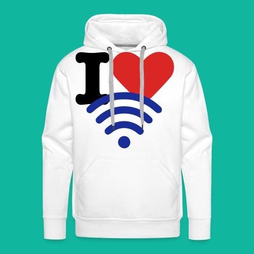 I (Heart) (Wi-Fi) Tee - Men's Premium Hoodie