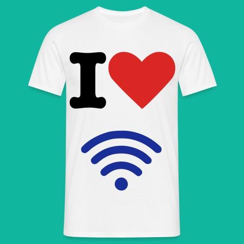 I (Heart) (Wi-Fi) Tee - Men's T-Shirt