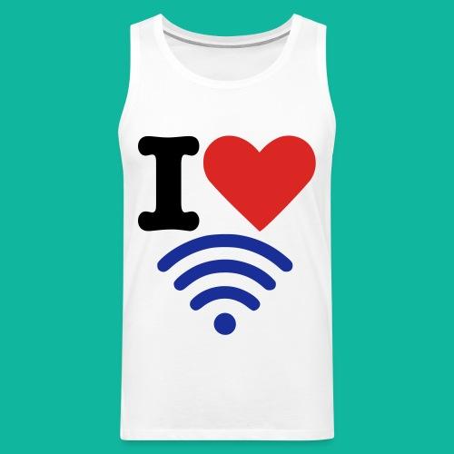 I (Heart) (Wi-Fi) Tee - Men's Premium Tank Top