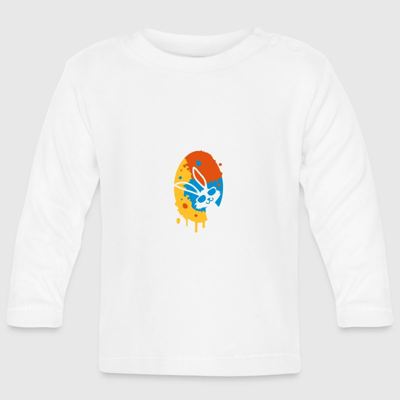 colorful graffiti Easter Egg Baby Long Sleeve Shirts - Baby Long Sleeve T-Shirt