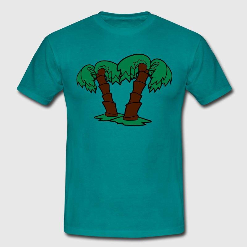 2 palmiers de noix de coco de dessins animés comiq Tee shirts - T-shirt Homme