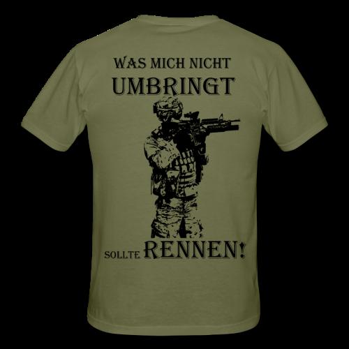 T-Shirt Soldat Bundeswehr was mich nicht umbringt - Männer T-Shirt