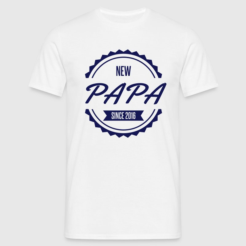 new papa since 2016 Tee shirts - T-shirt Homme