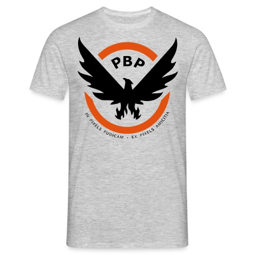 The Pixel Division PBP Logo Shirt (Grey) - Men's T-Shirt