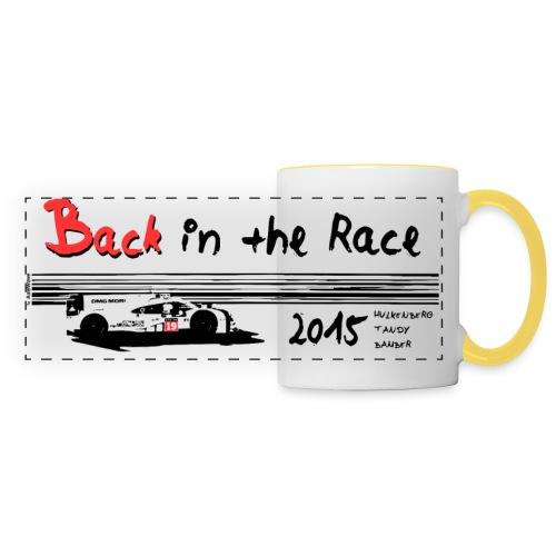 Back in the race  - Mug panoramique contrasté et blanc