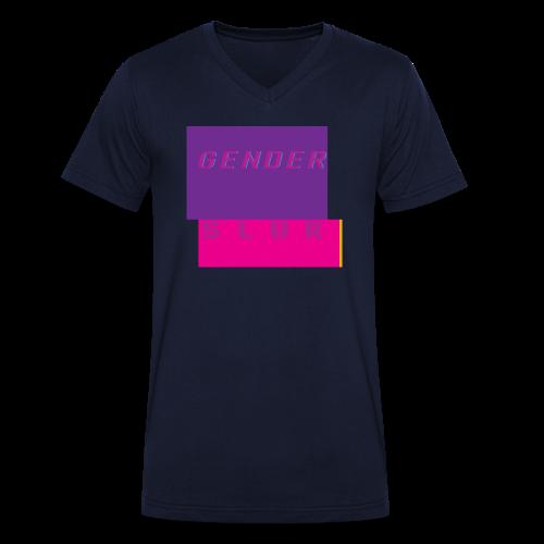 Gender Slur - Mens - Men's Organic V-Neck T-Shirt by Stanley & Stella