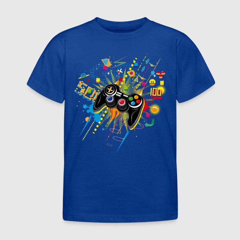 Kongeblå Gamepad T-shirts - Børne-T-shirt