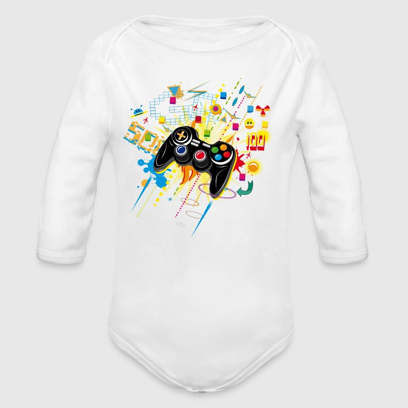 Gamepad Video Games Baby Bodysuits - Longlseeve Baby Bodysuit