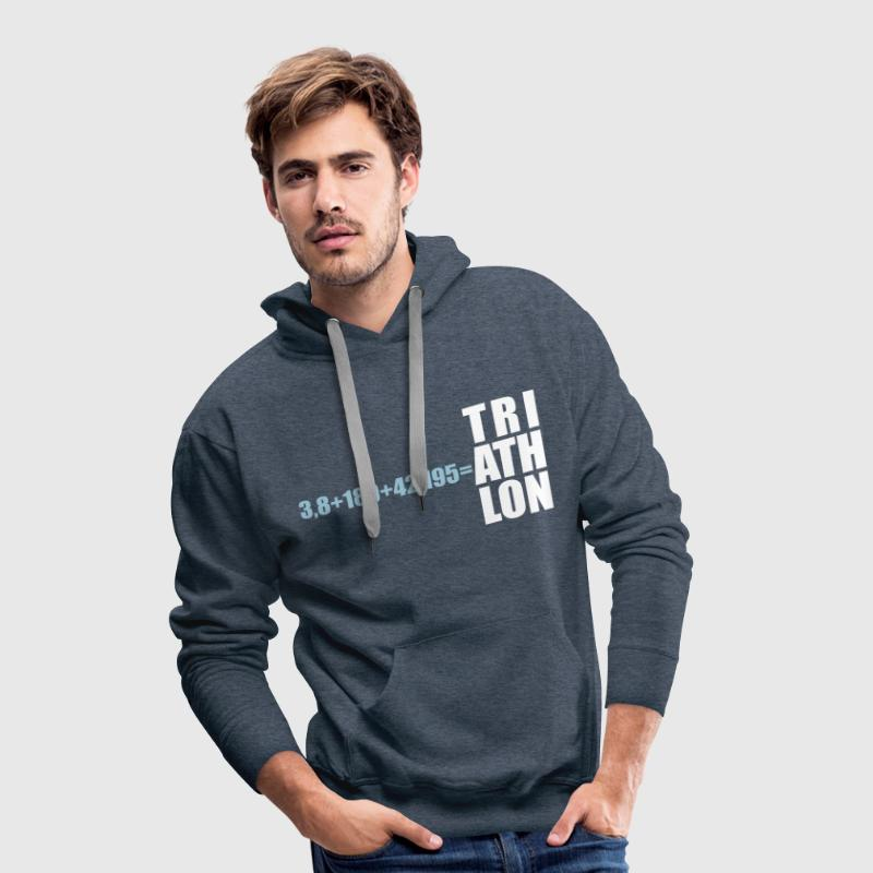 Triathlon Distance - Swim Bike Run  - Männer Premium Hoodie
