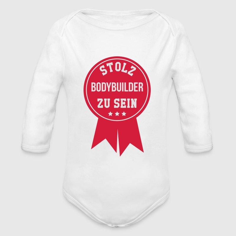 Bodybuilder Bodybuilding Kräftig Muskulös Fitness Baby Bodys - Baby Bio-Langarm-Body