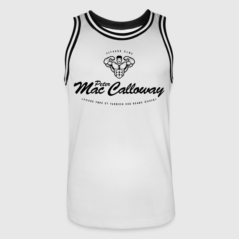 Peter Mac Calloway Fitness Musculation Vêtements de sport - Maillot de basket Homme