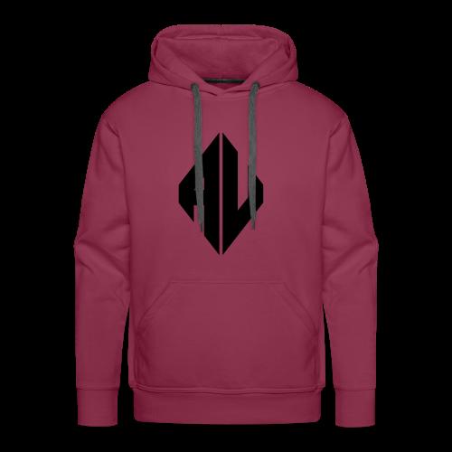 AveR Kontrast-Pullover | Logo schwarz - Männer Premium Hoodie