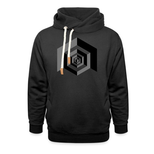 CUBES optical illusion - Sjaalkraag hoodie