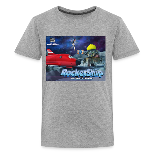 RocketShip T-Shirt - Dark Side Of The Moon- Kids' Premium T-Shirt - Teenage Premium T-Shirt