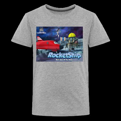 RocketShip T-Shirt - Dark Side Of The Moon- Kids' Premium T-Shirt - Teenage Premium T-Shirt