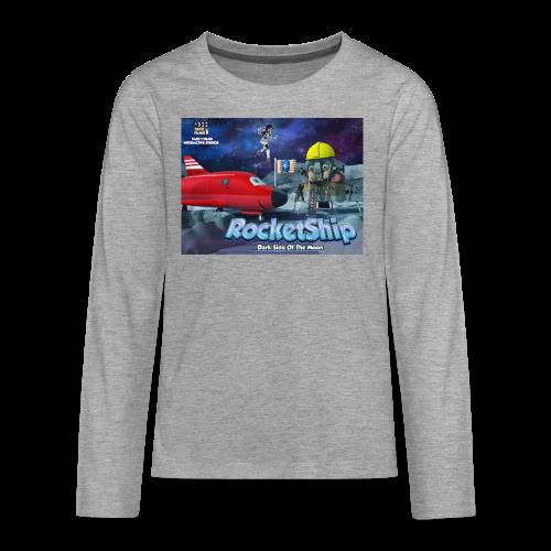 RocketShip T-Shirt - Dark Side Of The Moon- Kids' Premium T-Shirt - Teenagers' Premium Longsleeve Shirt