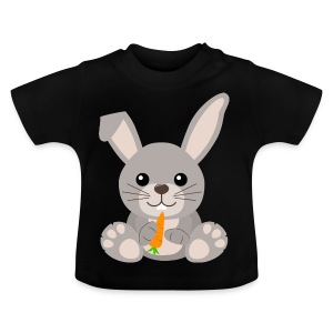 Kawaii Cute Bunny Rabbit Cartoon - Baby T-Shirt