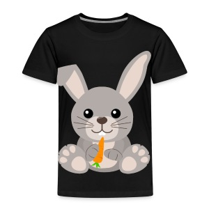 Kawaii Cute Bunny Rabbit Cartoon - Kids' Premium T-Shirt