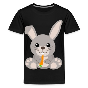 Kawaii Cute Bunny Rabbit Cartoon - Teenage Premium T-Shirt