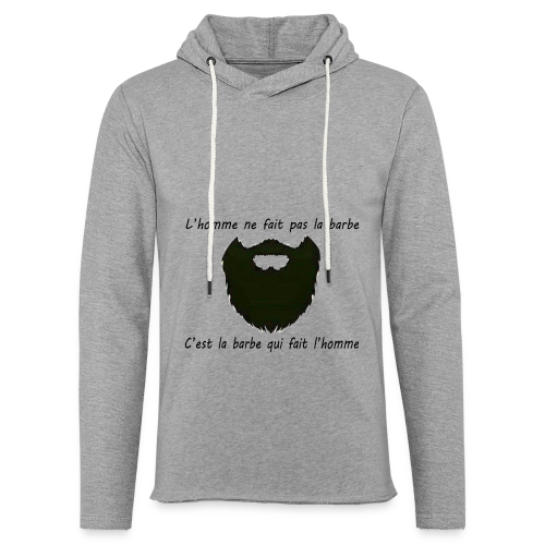 Sweat-Shirt Homme Barbe  - Sweat-shirt à capuche léger unisexe