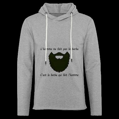 Sweat-Shirt Homme Barbe  - Sweat-shirt à capuche léger unisexe