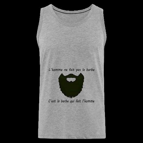Sweat-Shirt Homme Barbe  - Débardeur Premium Homme