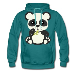 Kawaii Cute Panda Bear Cub - Men's Premium Hoodie