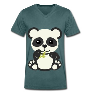 Kawaii Cute Panda Bear Cub - Men's Organic V-Neck T-Shirt by Stanley & Stella