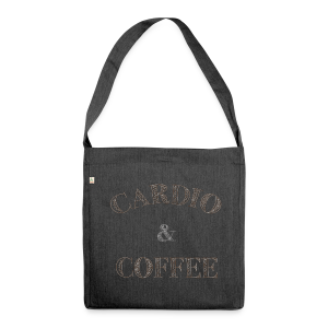Cardio & Coffee - Schultertasche aus Recycling-Material