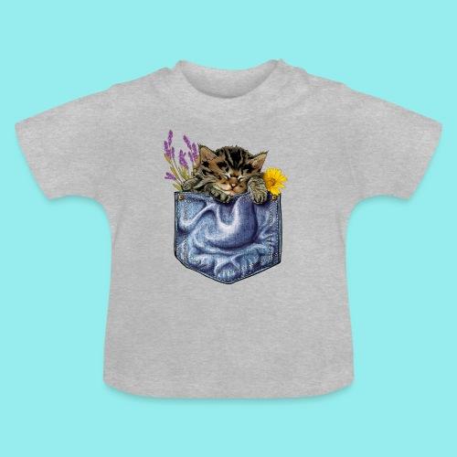 Chaton poche - T-shirt Bébé