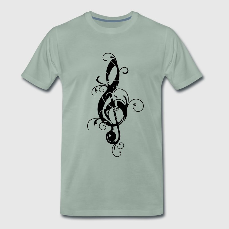Clef, note, sheet, music, musical, notes, classic T-shirts - Premium-T-shirt herr