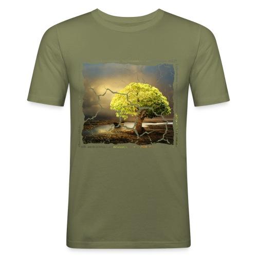 Broken Tree - Dennis Petersen Show - Männer Slim Fit T-Shirt