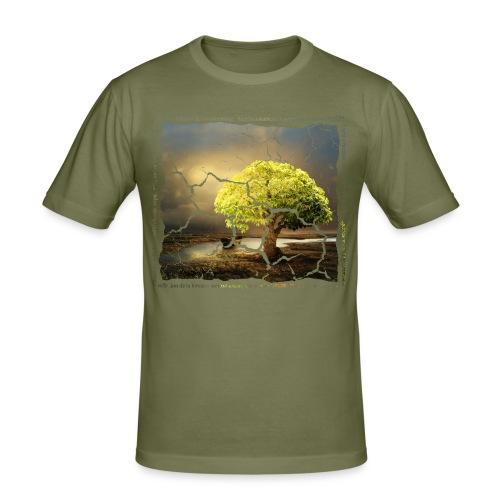 Broken Tree - Dennis Petersen Show - Männer Slim Fit T-Shirt