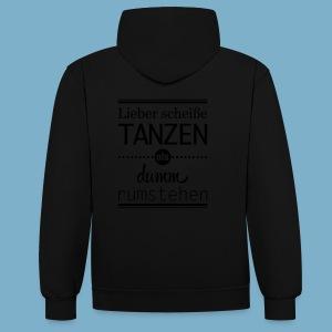 Tanz Shirt - Kontrast-Hoodie