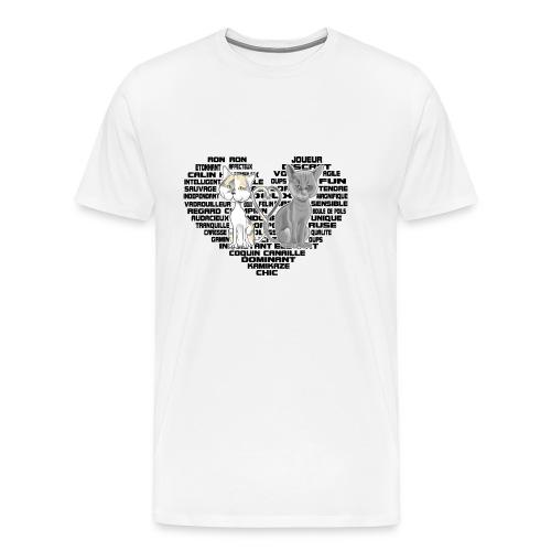 Cœur de chat (noir) - T-shirt Premium Homme