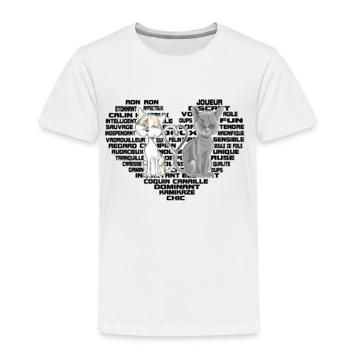 Cœur de chat (noir) - T-shirt Premium Enfant