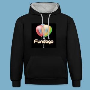 Fundago Ballon Motive - Kontrast-Hoodie