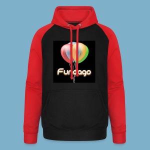 Fundago Ballon Motive - Unisex Baseball Hoodie