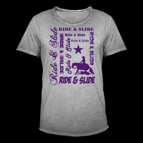 Ride & Slide - Männer Vintage T-Shirt