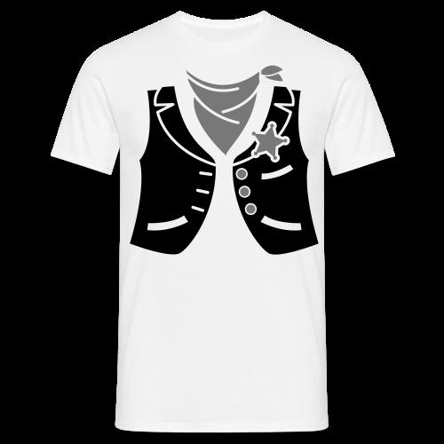 Cowboyweste Sheriff - Männer T-Shirt