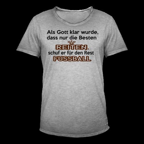 Reiten & Fussball - Männer Vintage T-Shirt