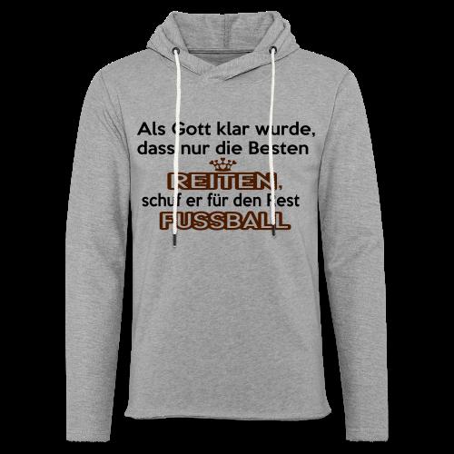 Reiten & Fussball - Leichtes Kapuzensweatshirt Unisex
