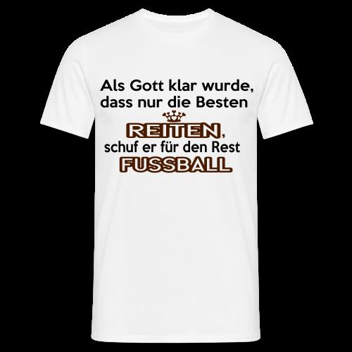 Reiten & Fussball - Männer T-Shirt