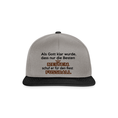 Reiten & Fussball - Snapback Cap