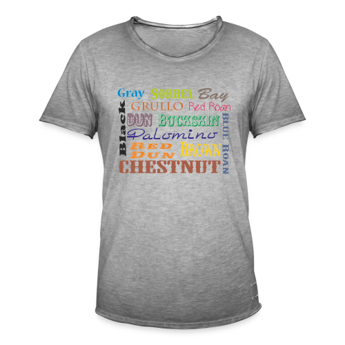 Quarter Horse Farben - Männer Vintage T-Shirt